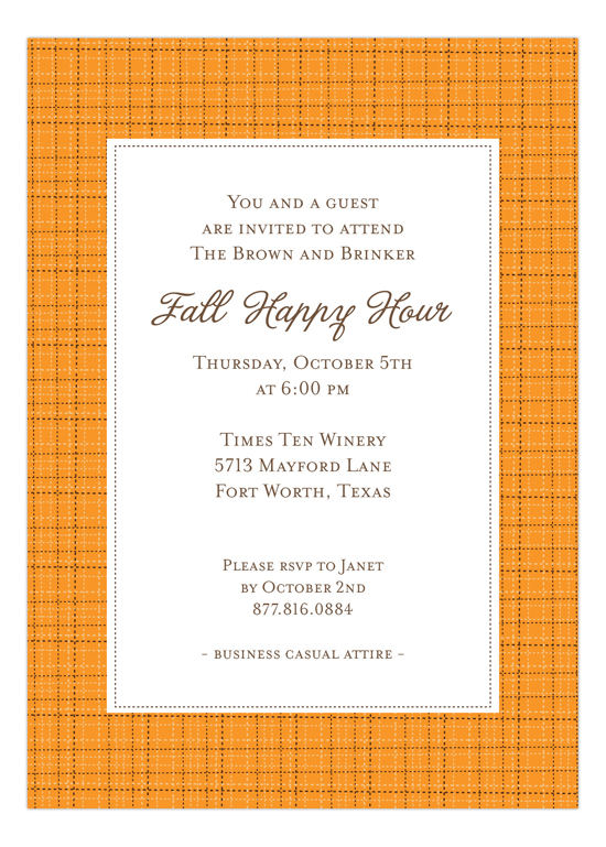 Pumpkin Tweed Invitation