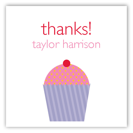 Purple Cupcake Party Delight Sticker