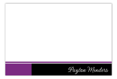Purple Flying Colors Flat Note Card