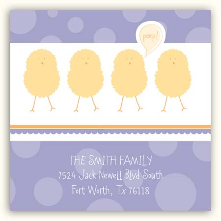 Purple Polka Dot Chicks Square Sticker