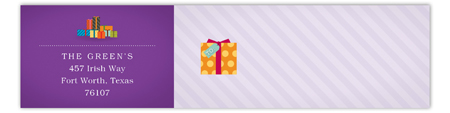 Purple Pretty Package Envelope Wrap Address Label