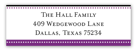 Purple Senior Seal Address Label