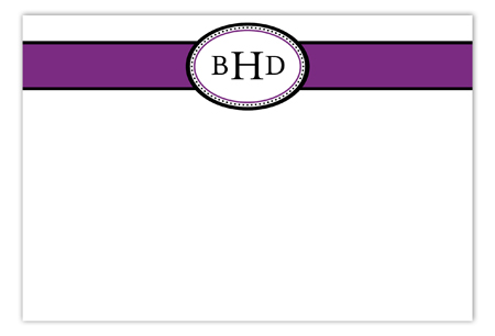 Purple Senior Seal Flat Note Card