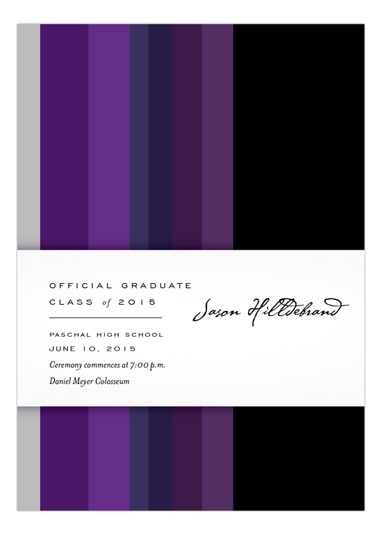 Purple Stripes Invitation