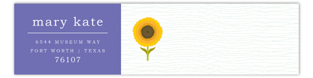 Purple Sunny Flower Envelope Wrap
