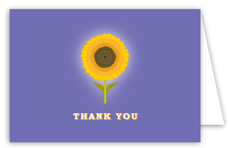 Purple Sunny Flower Note Card