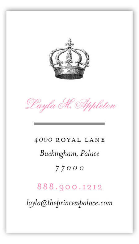 Queen Anne Calling Card
