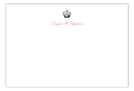 Queen Anne Flat Note Card