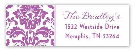 Radiant Orchid Pattern Address Label