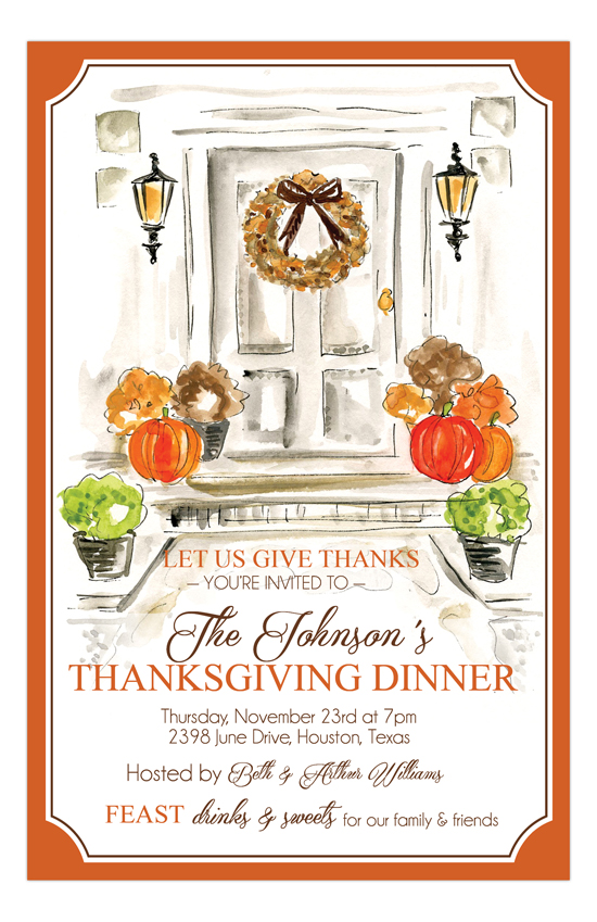Thanksgiving Door Invitation