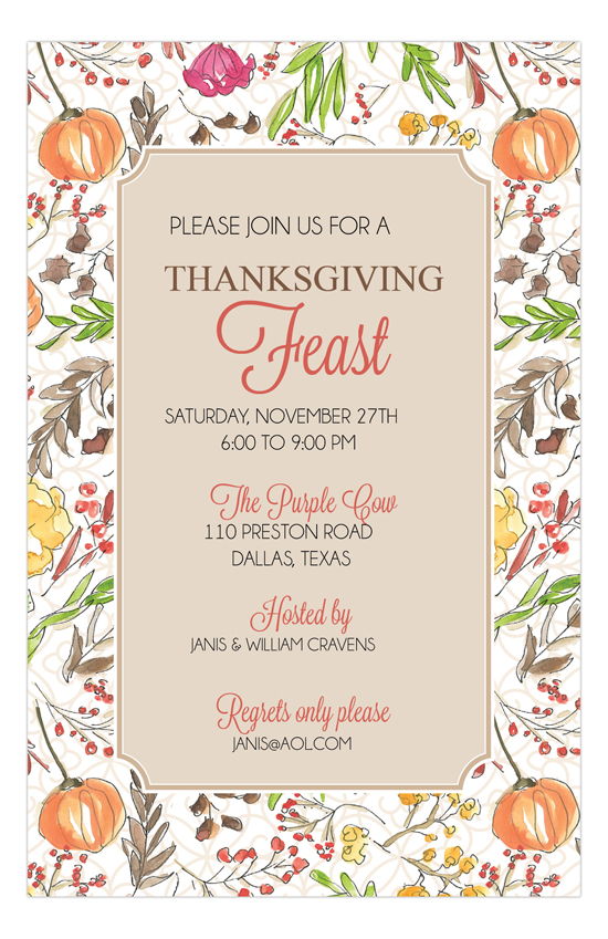 Fall Foliage Party Invitation