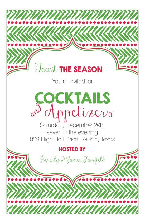 Pine Needles Holiday Invitation