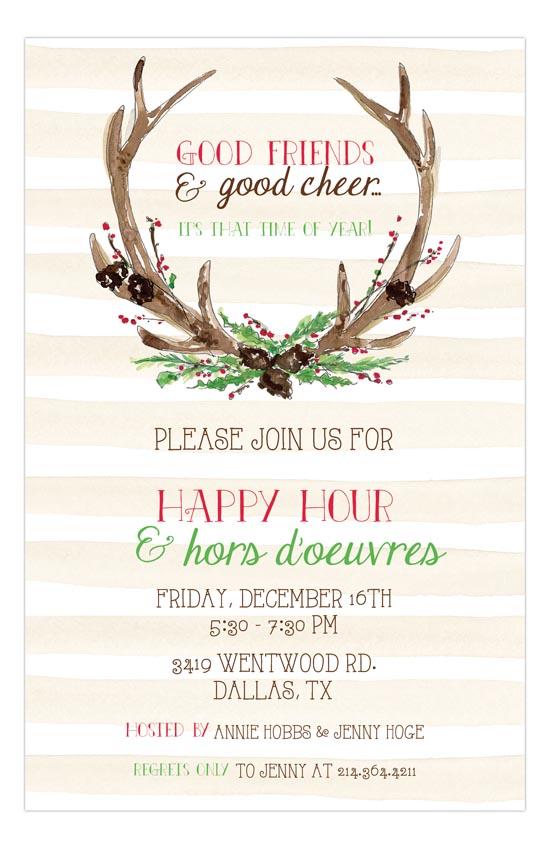 Antlers Holiday Party Invite