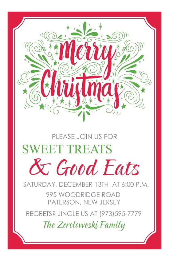 Very Merry Christmas Invitation
