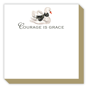 Courage is Grace Swan Luxe Pad