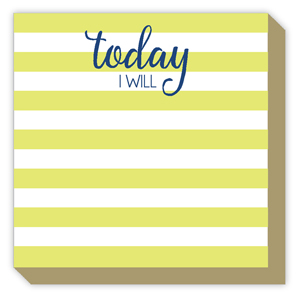 Today I Will Cabana Stripe Luxe Pad