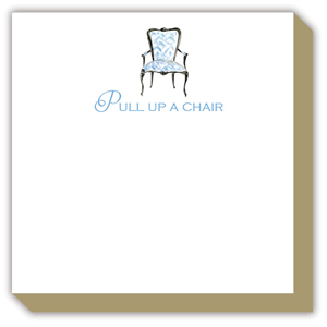 Pull Up a Chair Blue Antique Chair Luxe Pad