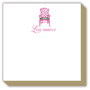Live Simply Pink Antique Chair Luxe Pad