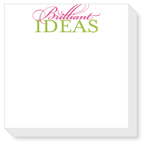 Brilliant Ideas Luxe Notepad