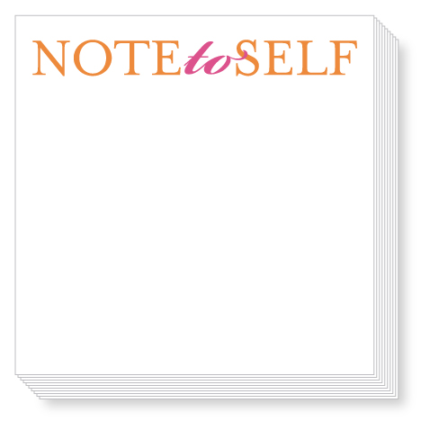 Note to Self Luxe Notepad