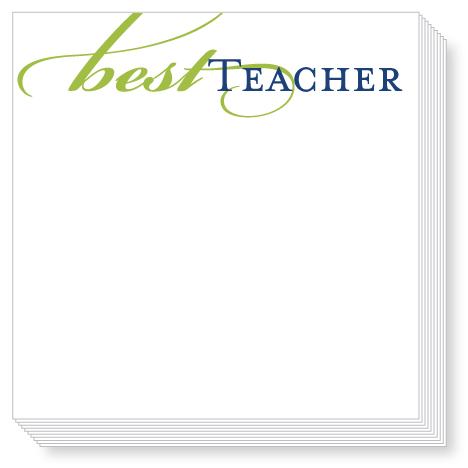 Best Teacher Luxe Notepad