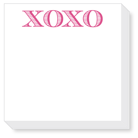 Hugs and Kisses XOXO Luxe Notepad