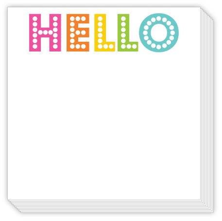 Hello Luxe Notepad