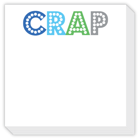 Block Crap Luxe Notepad