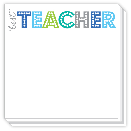 Bright Teacher Luxe Notepad