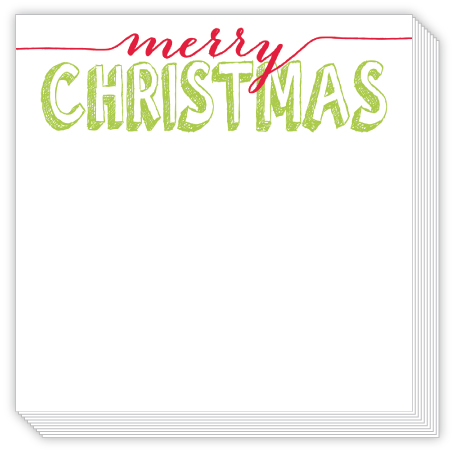 Merry Christmas Luxe Notepad