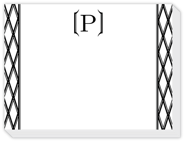 Classic Black Letter P Monogrammed Slab Pad