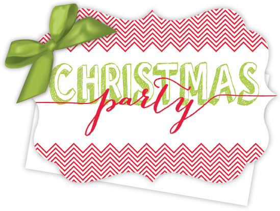 Christmas Party Die-Cut Tie-Up Invitation