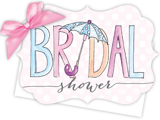 bridal shower die cut tie up invitation rh polkadotdesign com bridalshower logo free Wedding Shower Clip Art