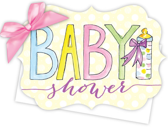 Baby Shower Die-Cut Tie-Up Invitation