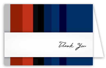 Red and Blue Stripes Note Card