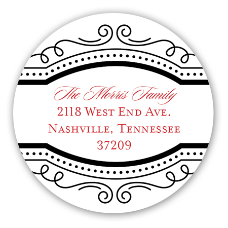 Red and White Fun Frame Round Sticker