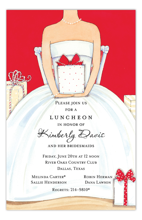 Red Bridal Shower Invitation