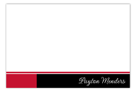 Red Flying Colors Flat Note Card