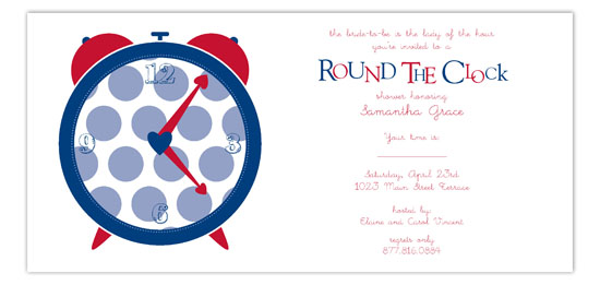 Red Round the Clock Invitation
