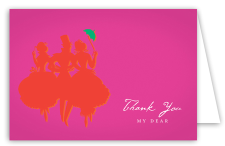 Red Savvy Party Note Card