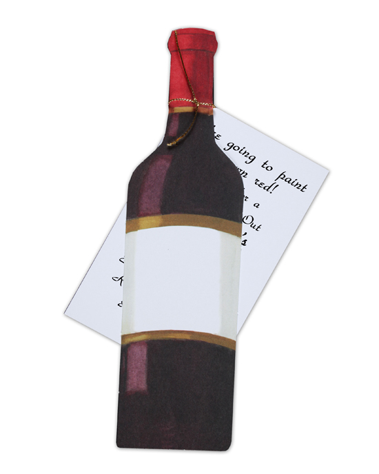 Red Wine Bottle Invitation