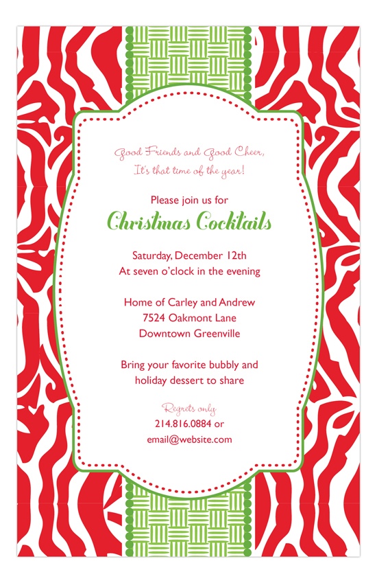 Red Zebra Invitation