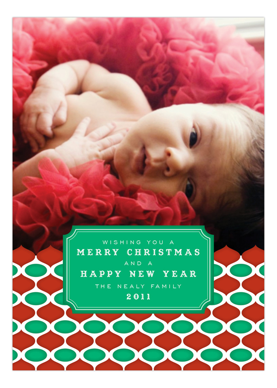 Retro Holiday Red Photo Card