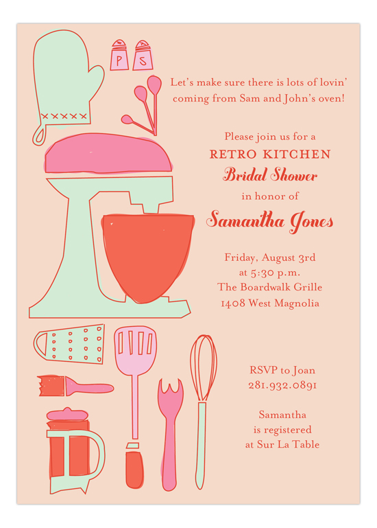 Retro Housewife Invitation