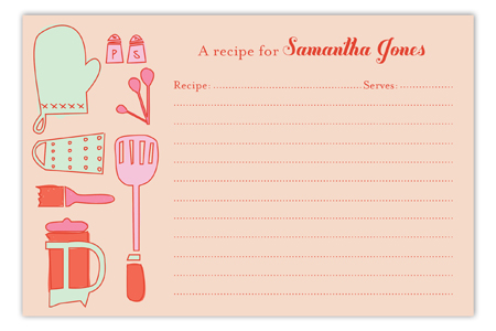 Retro Housewife Recipe Card