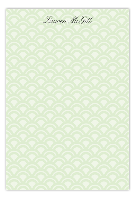 Rising Sun Lime Flat Note Card