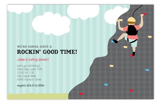 Rock Climbing Party Kids Birthday Party Invitation : Kids ...