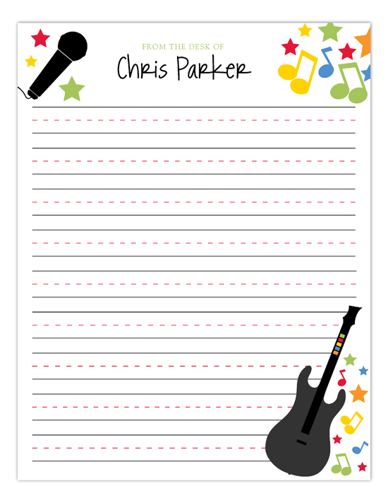 Rock Star Notepad