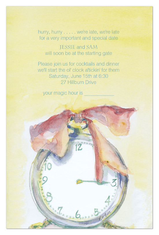 Round the Clock Invitation