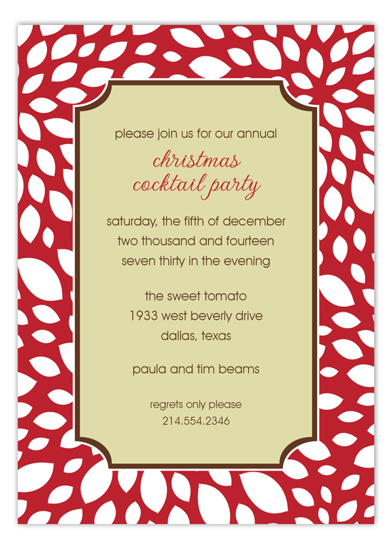 Rudolph Christmas Cocktail Party Invitation